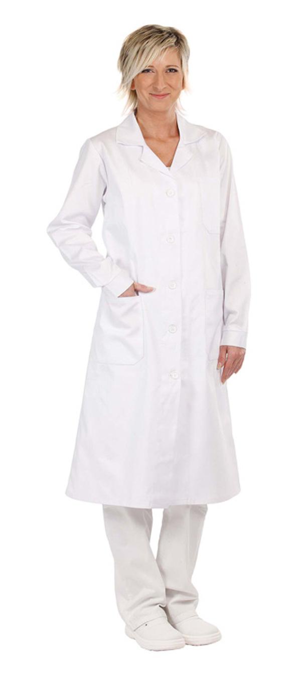 VERIS plášť dl.rukáv bílý dámský - 48